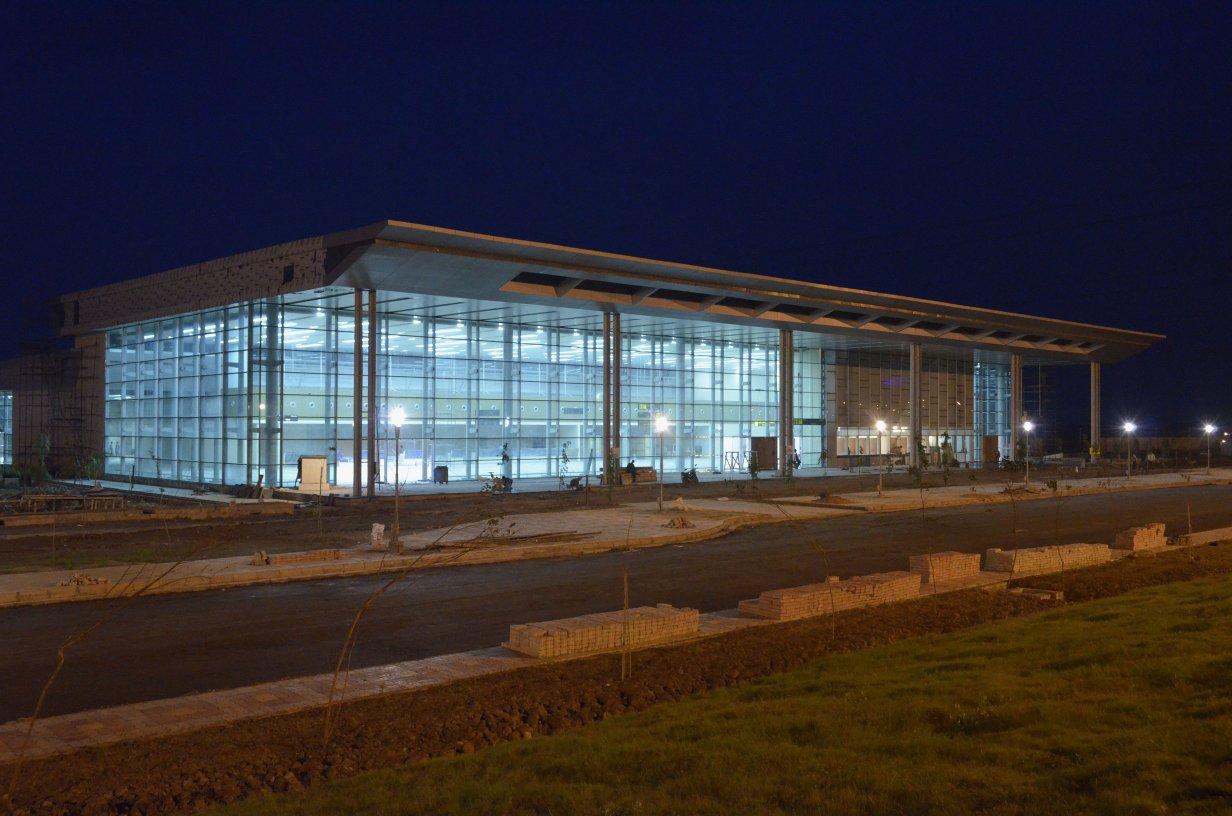 Airport terminal building for the Bengal Aerotropolis in Durgapur.
