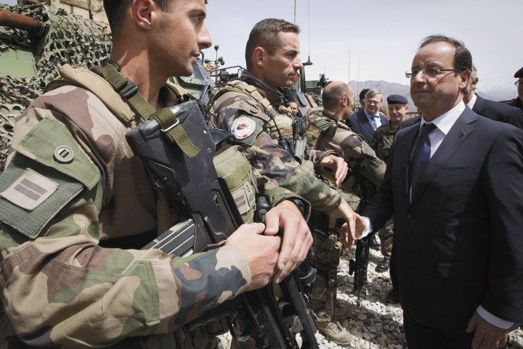 French President François Hollande announced in June that all French frontline troops would be withdrawn from Afghanistan by the end of 2012.
