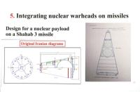 A slide from Netanyahu's 30 April presentation shows what he said are Iranian diagrams of nuclear warheads for Shahab-3 ballistic missiles. Israeli Office of the Prime Minister