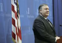 US Secretary of State Mike Pompeo speaks at the Heritage Foundation 21 May 2018 in Washington, DC. He addressed the topic of 'After the Deal: A New Iran Strategy'. Win McNamee/Getty Images